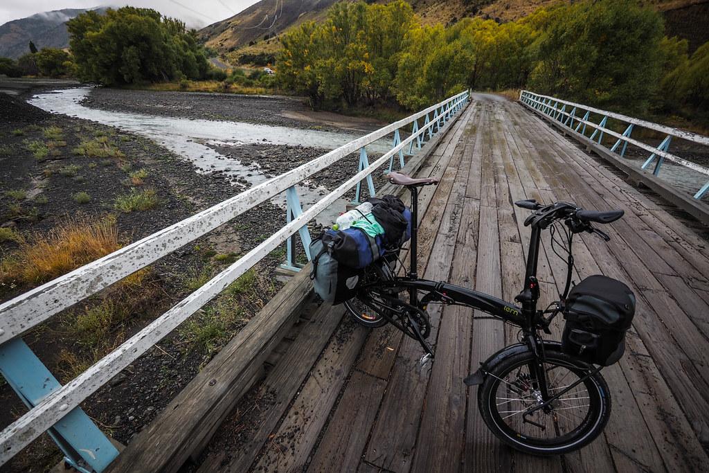 Wooden bridge on the Molesworth Muster Trail, New Zealand