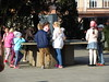 Children gathered around a model of old Bydgoszcz