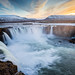 Godafoss, Iceland at Dusk by Tim de Groot - AirTeamImages