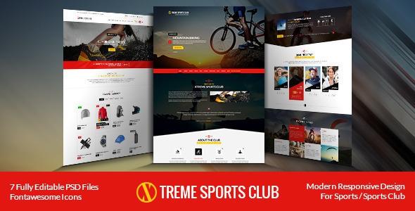 Xtreme Sports Club v1.4 - HTML Template
