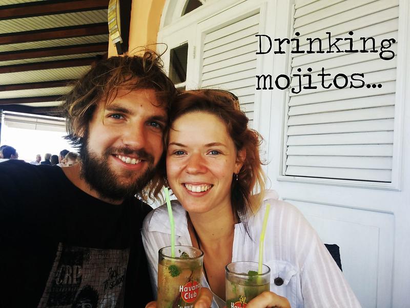 Drinking amazing Cuban mojitos