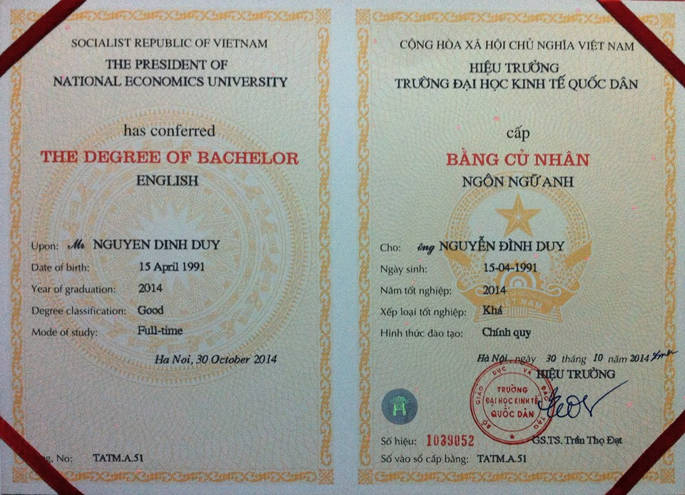 Bachelor's degree.