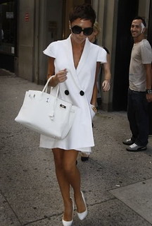 Victoria Beckham White Pumps Celebrity Style Women's Fashion