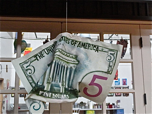 giant five dollar bill