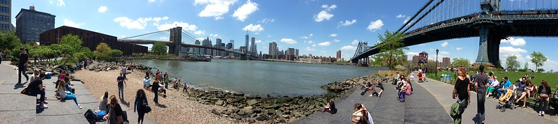 DUMBO, Brooklyn on a beautiful mother's day!