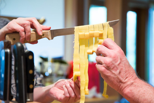 unrolling pasta