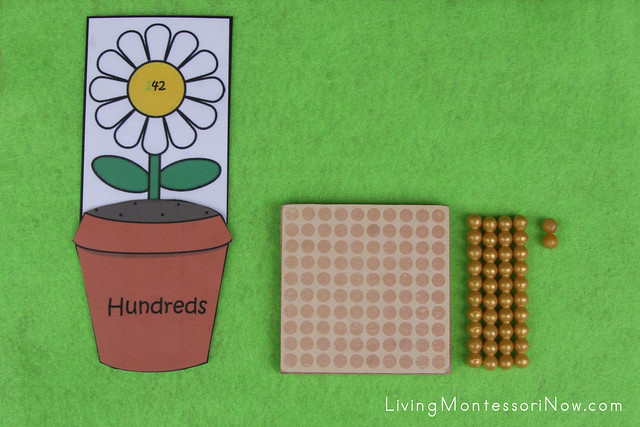 Place Value Flower Layout