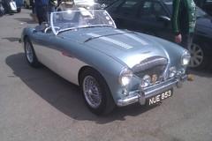 automobile, vehicle, austin-healey 100, classic car, land vehicle, coupã©, convertible, sports car,