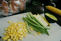 09 May 2013 / Corn + Green Beans + Squash + Avocado II