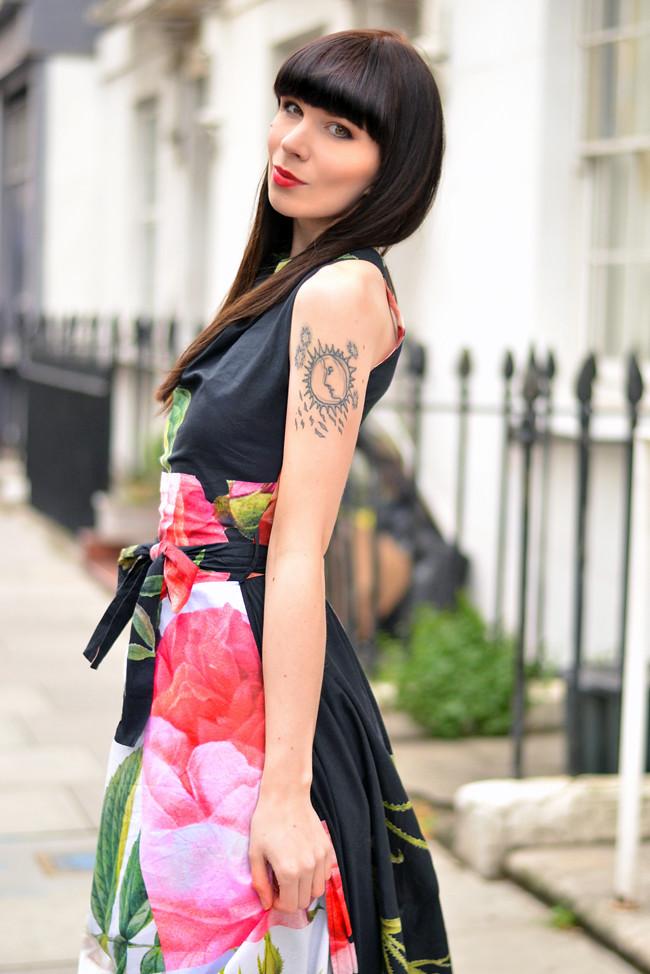 Vivienne Westwood floral dress outfit 4