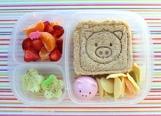 EasyLunchbox piggie lunch for Kindergarten