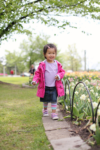canadian tulip festival, with grandparents
