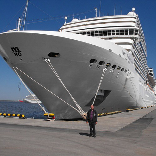 Last pic for today - me dwarfed by the MSC Magnifica - thanks to one of the crew from the MSC Musica by chrisLgodden