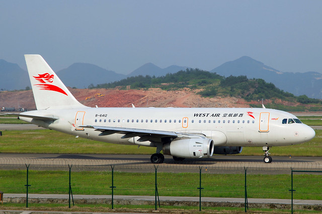 China West Air Airbus A319-133 B-6412