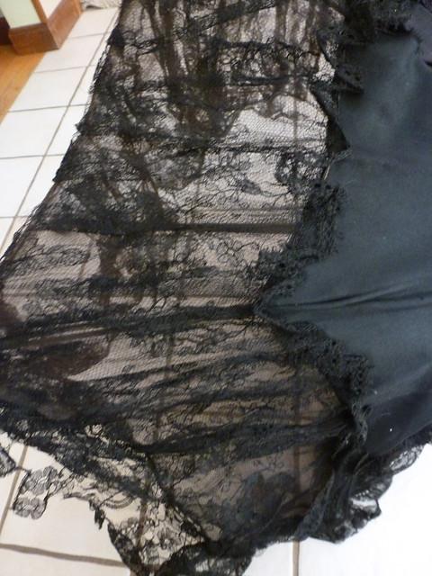 black lace antique parasol 7