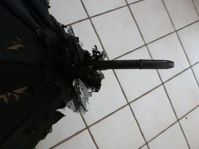 black lace antique parasol 6