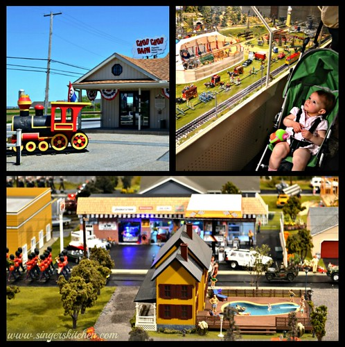Choo choo barn collage