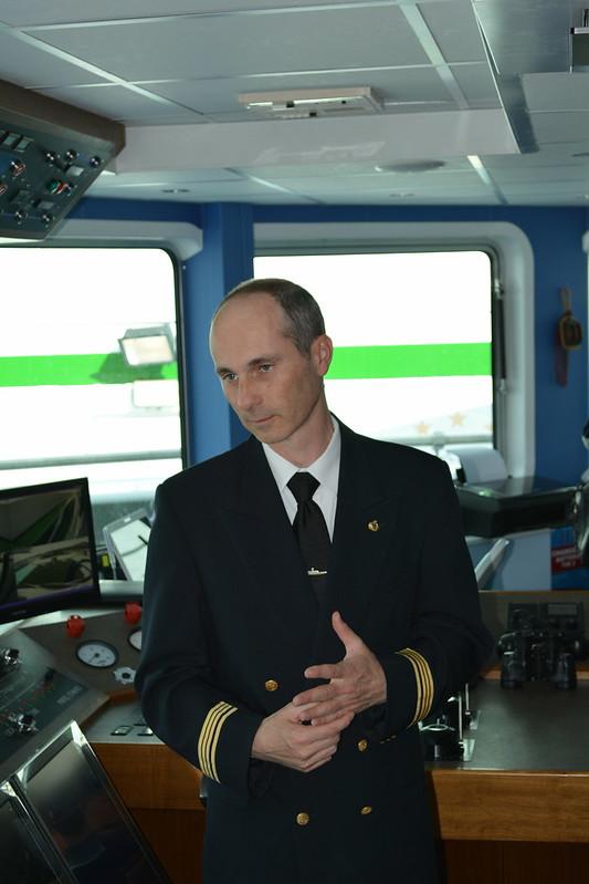 Le capitaine, Mr COUDERT Bruno - A bord du MS CYRANO DE BERGERAC - Croisieurope - Bordeaux - 16 mai 2013