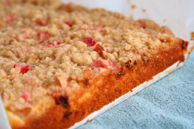 Rhubarb Snack Cake (adapted from Smitten Kitchen )