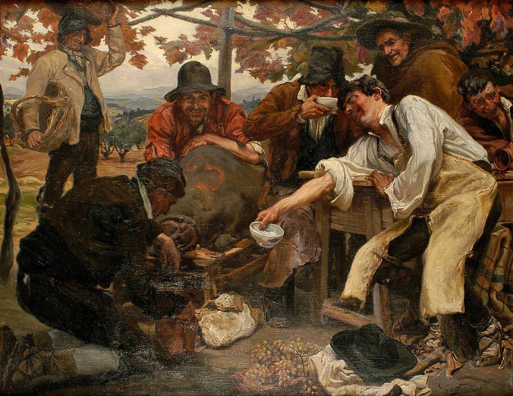 Después de la vendimia. Alvaro Alcalá Galiano. Óleo sobre lienzo, 1930
