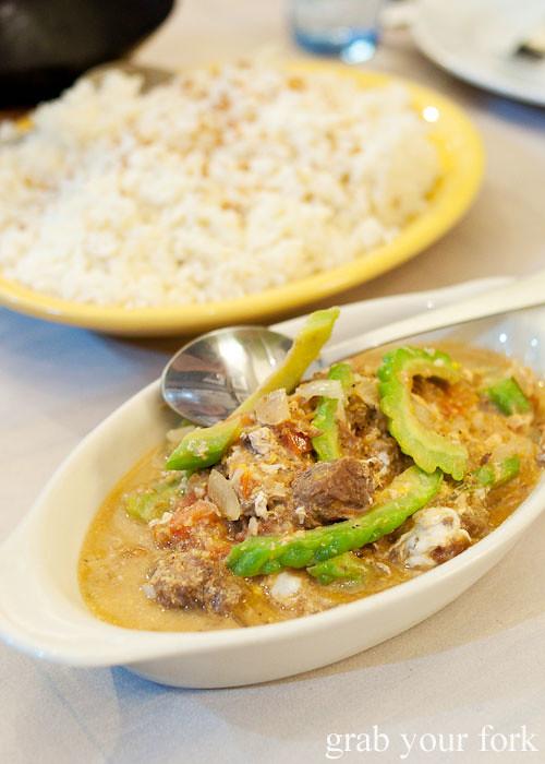 ginisang ampalaya at lamesa phillipine cuisine haymarket chinatown