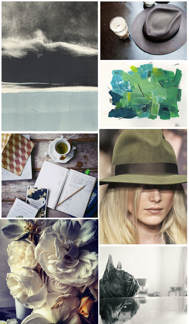 photo collage-muted neutrals-greens