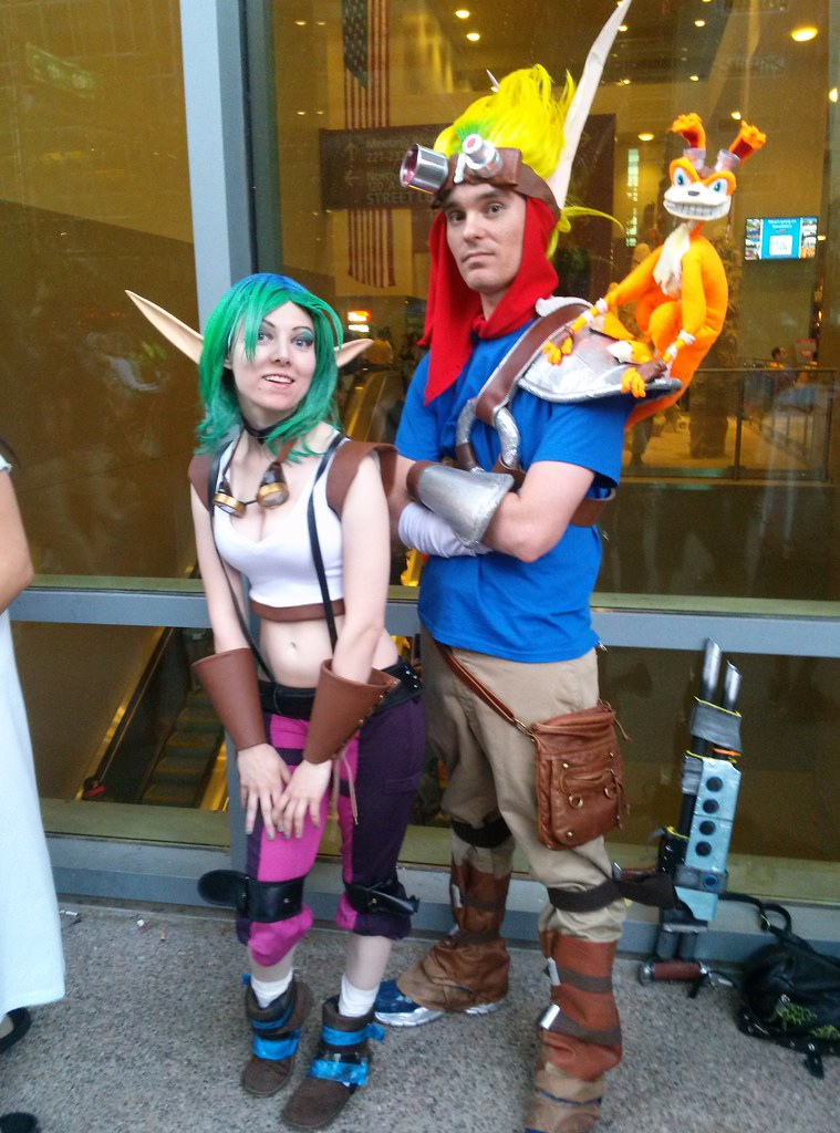 cosplay daxter Jak and keira