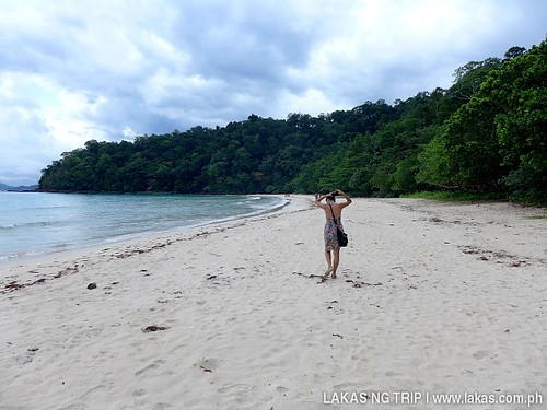 The beach that we passed by to the Monkey Trail at Sabang, Puerto Princesa, Palawan