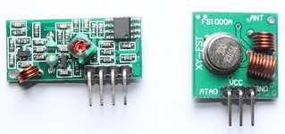 315Mhz wireless transmitter and receiver
