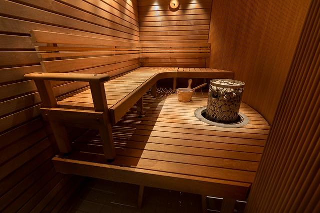 Public sauna in a hotel building