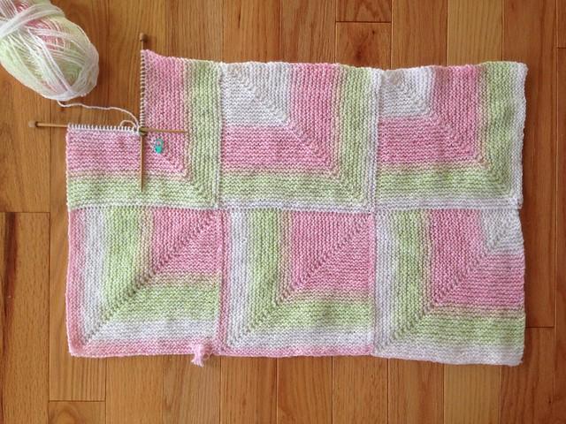 Mitered Baby Blanket