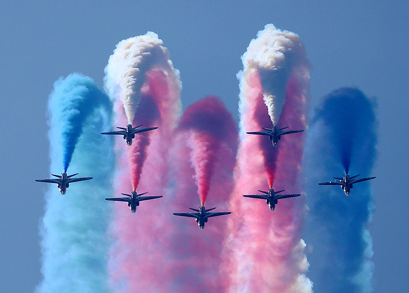 The Red Arrows just over the top