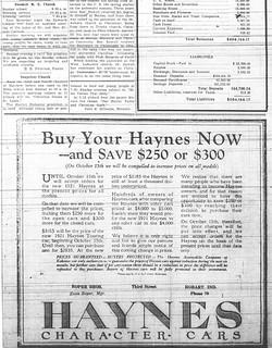Roper Bros./Haynes autos ad