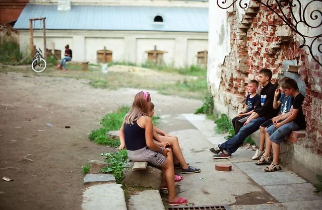 Детишки которые живут на Валааме The kids who live on Valaam