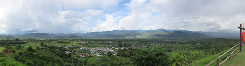 Panorama of Pai mountains