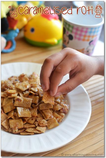 Caramelised Roti Crisps