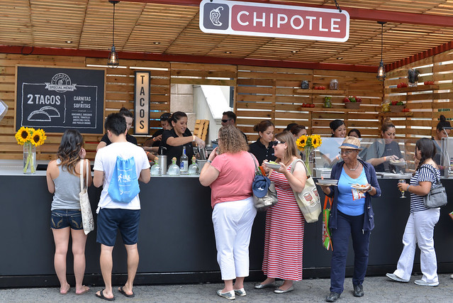 Chipotle tacos; patron margaritas