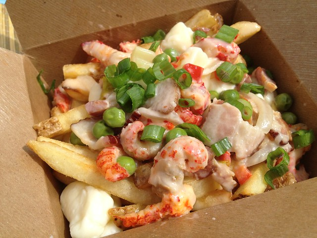 Crawfish and bacon poutine - Fins on the Hoof