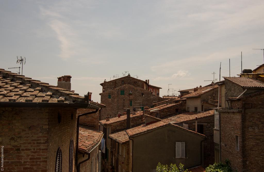 Italy, Terracotta Roofs in Città della Pieve