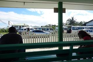Zona de espera para o barco Guiana Suriname