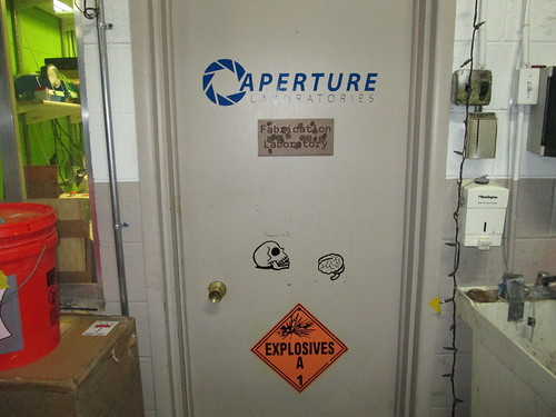 Sign installed on Fab Lab door