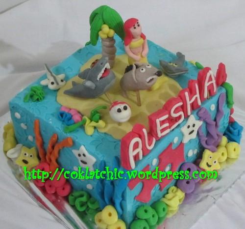 Terbuat dari kue yang dipahat no styrofoam pelapis terbuat dari