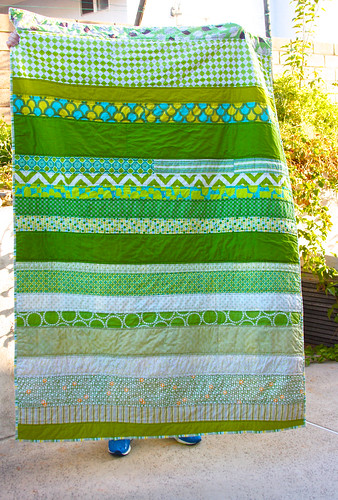 Tanner's green quilt