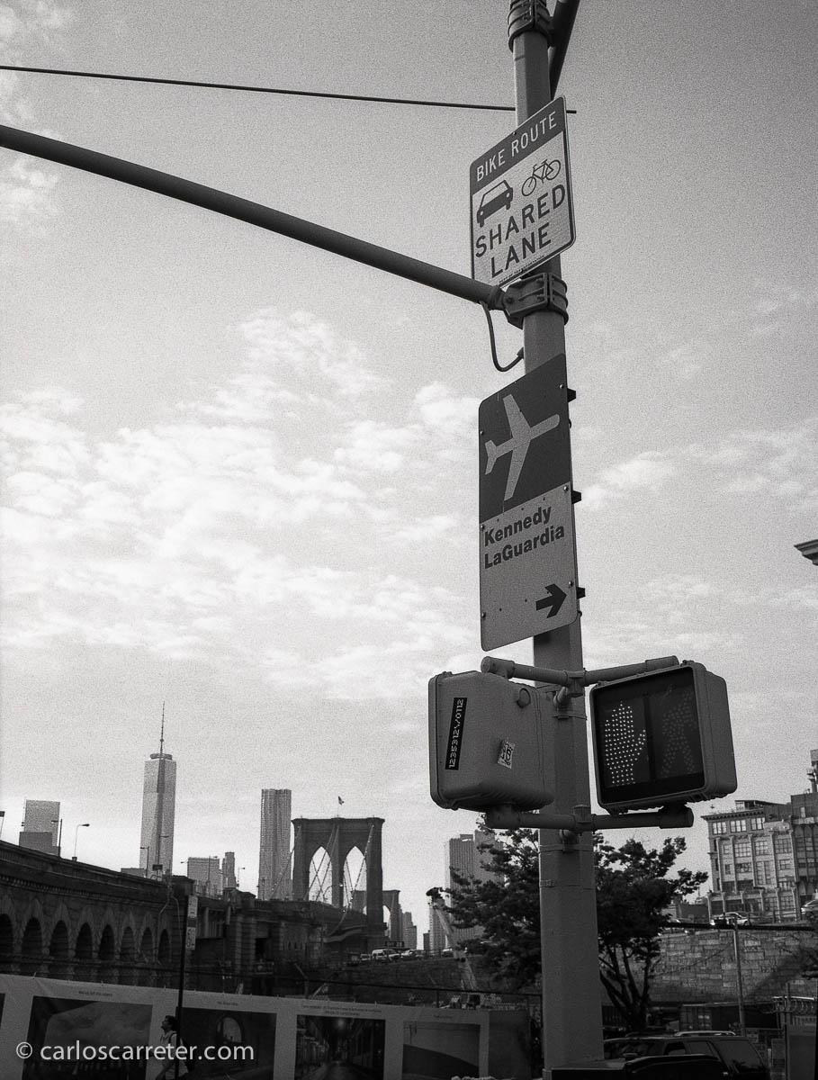 Ante el puente de Brooklyn