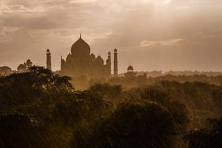 India - Taj Mahal in the rains