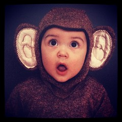 Once upon a time, I had a baby Gideon and I put him in a monkey suit.