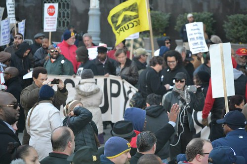 "Crowds took over the streets in Detroit demanding that the banks be held accountable for the financial ruin of the city. ""Make the Banks Pay"" the people chanted. by Pan-African News Wire File Photos"