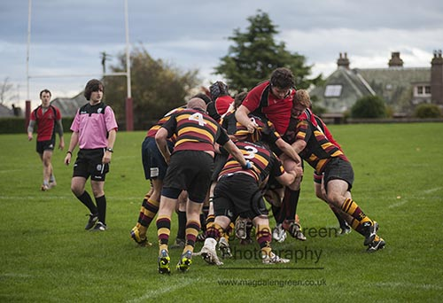 In the Thick of It   - Harris FP Versus University of Dundee  - Rugby Dundee Scotland