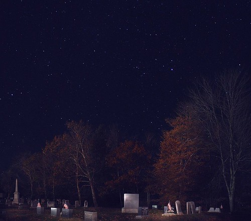 2013_1028Cemetery-At-Night-Pano0001 by maineman152 (Lou)
