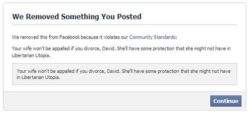 facebook removal